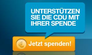 Unterstützen Sei die CDU mit Ihrer Spende